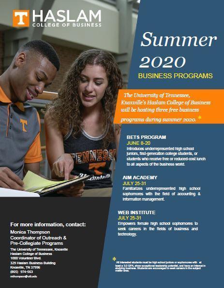 UTK Summer Business Opportunity