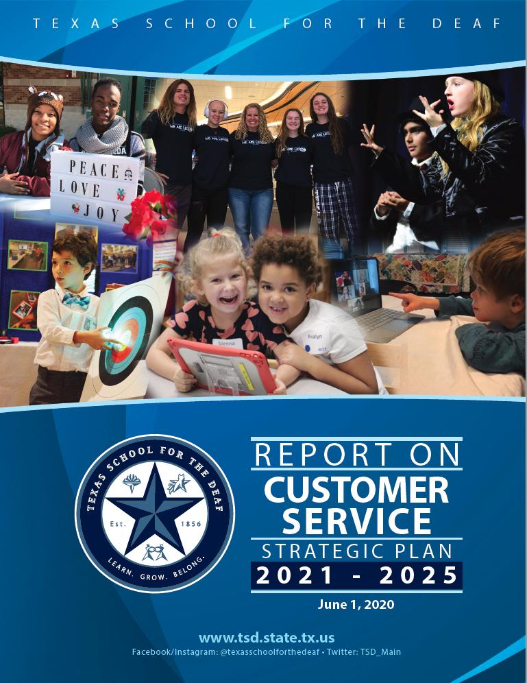 TSD Report on Customer Service Strategic Plan
