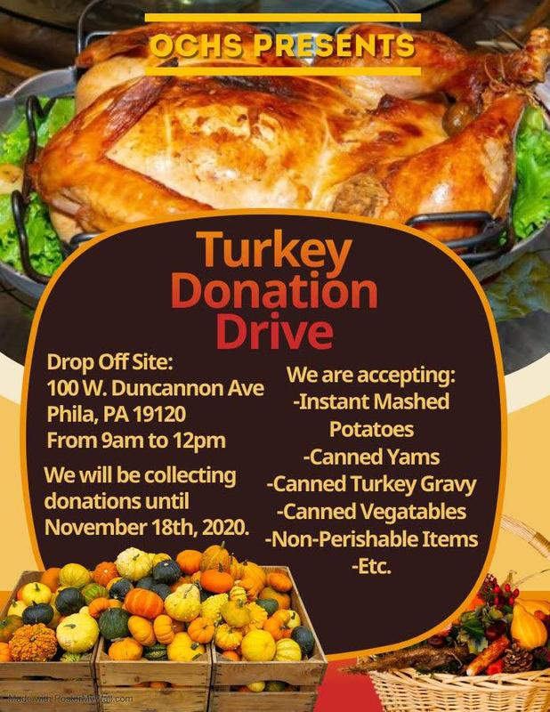 O.C.H.S Thanksgiving Food Drive Featured Photo