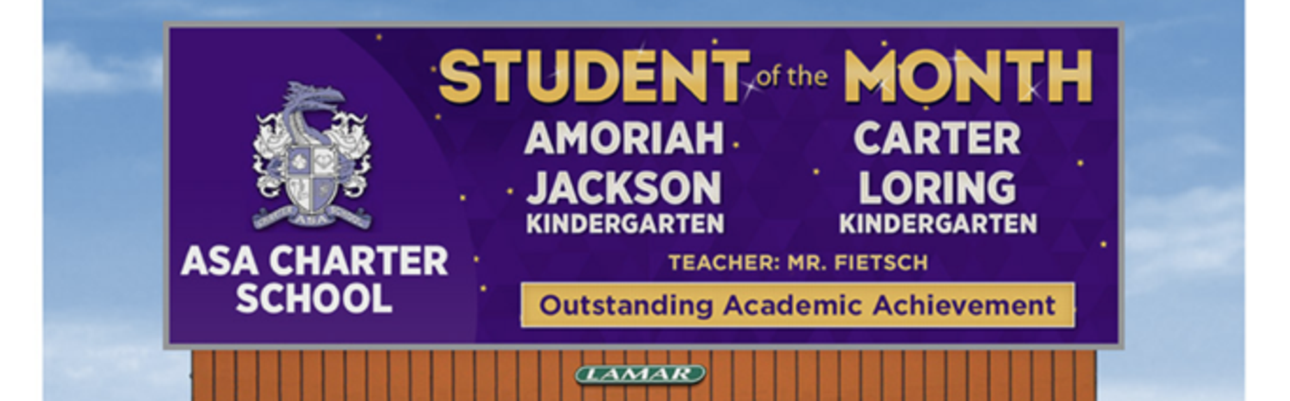 kindergarten student of the month