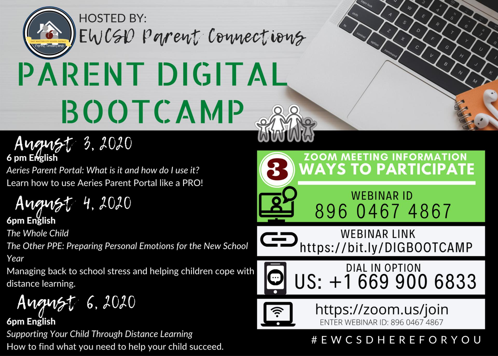 Parent Digital Bootcamp
