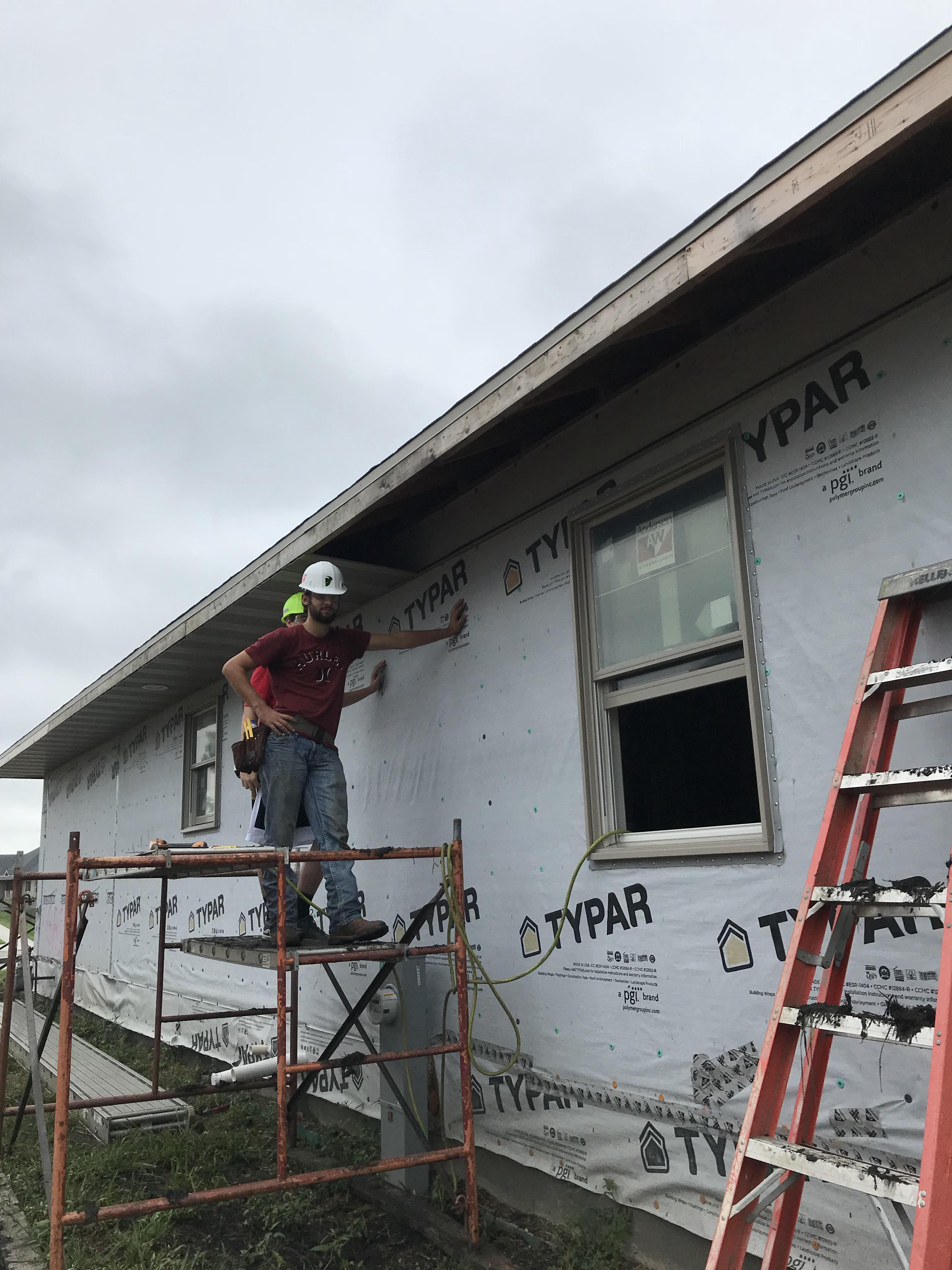 Building Trades Grundy Area Vocational Center Wiring A House Homework Installing Soffit Panels