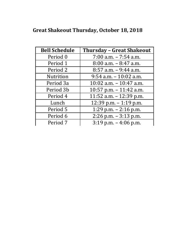 GREAT SHAKEOUT 10-18-18