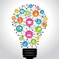 light bulb of thought activity