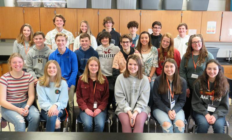 TKHS Youth Advisory Council students gather after helping Page 5th graders learn about philanthropy.