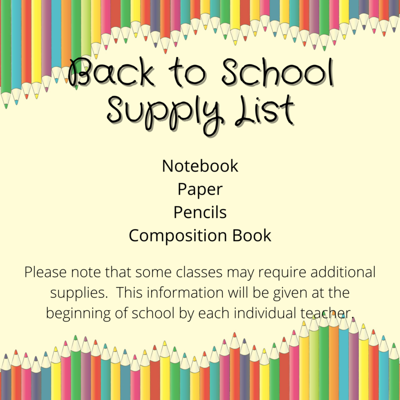 Back to School Supply List Thumbnail Image