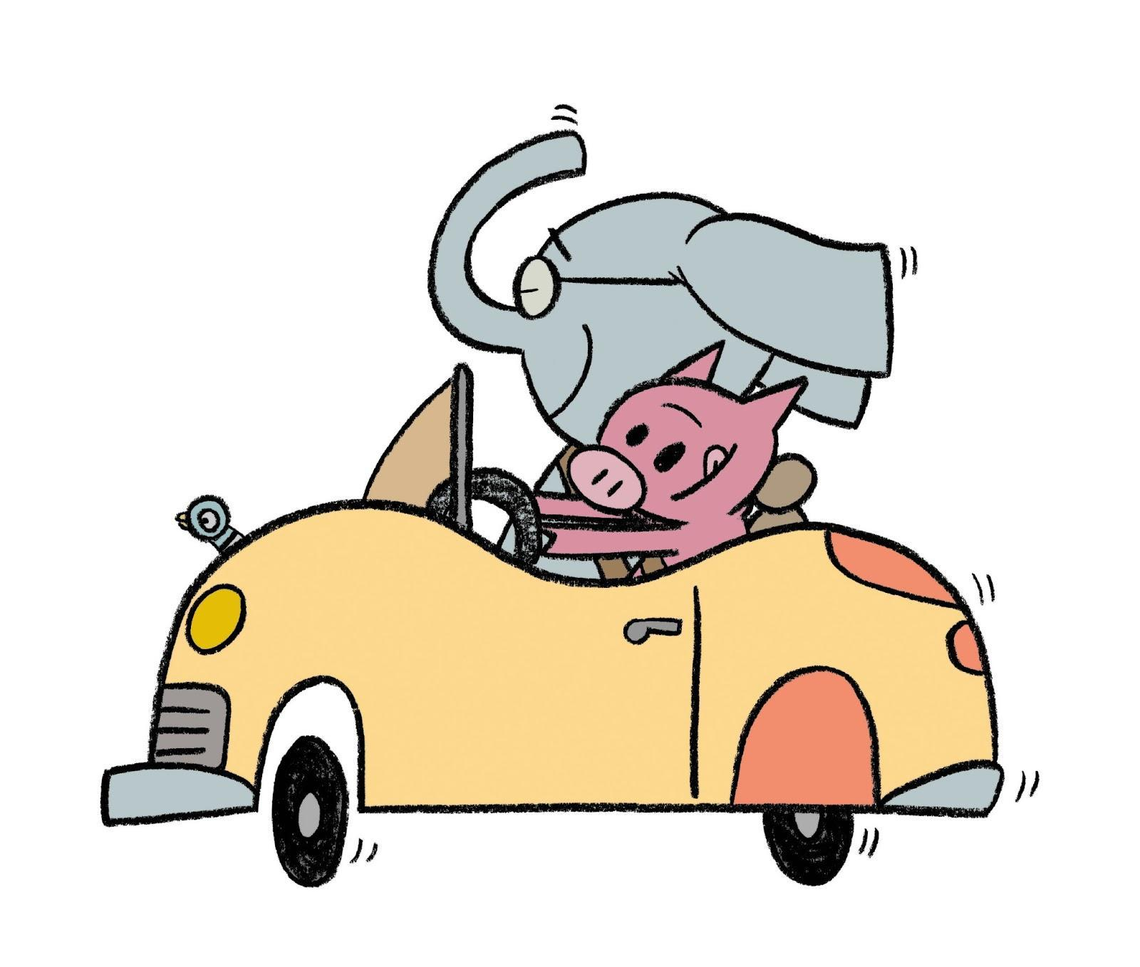 Elephant and Piggie Let's go for a drive