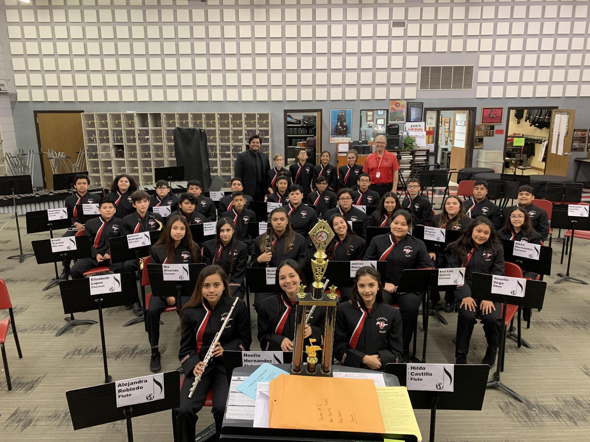 Vernon Concert  Band gets Pre-UIL Sweepstakes!
