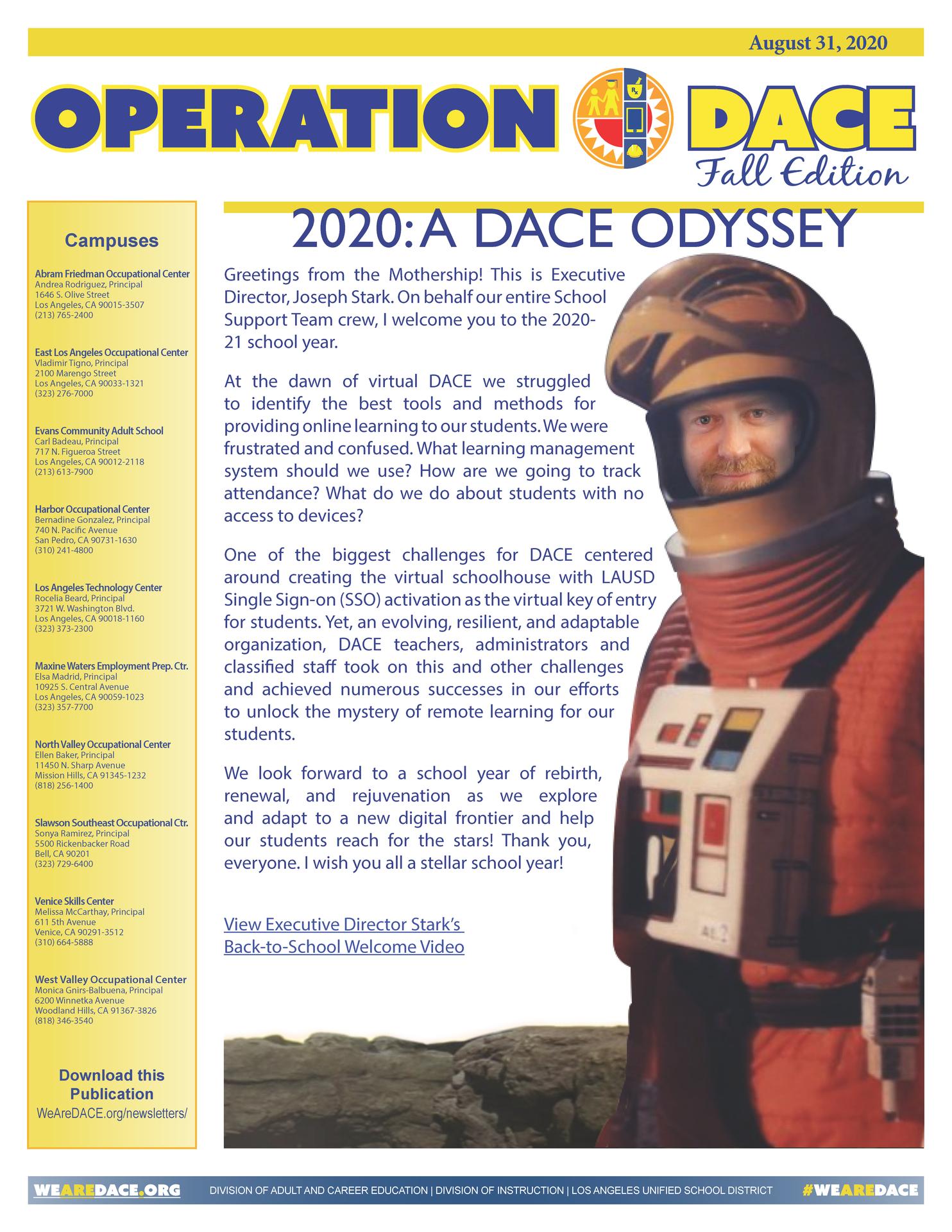 DACE Newsletter - August 31, 2020 Thumbnail