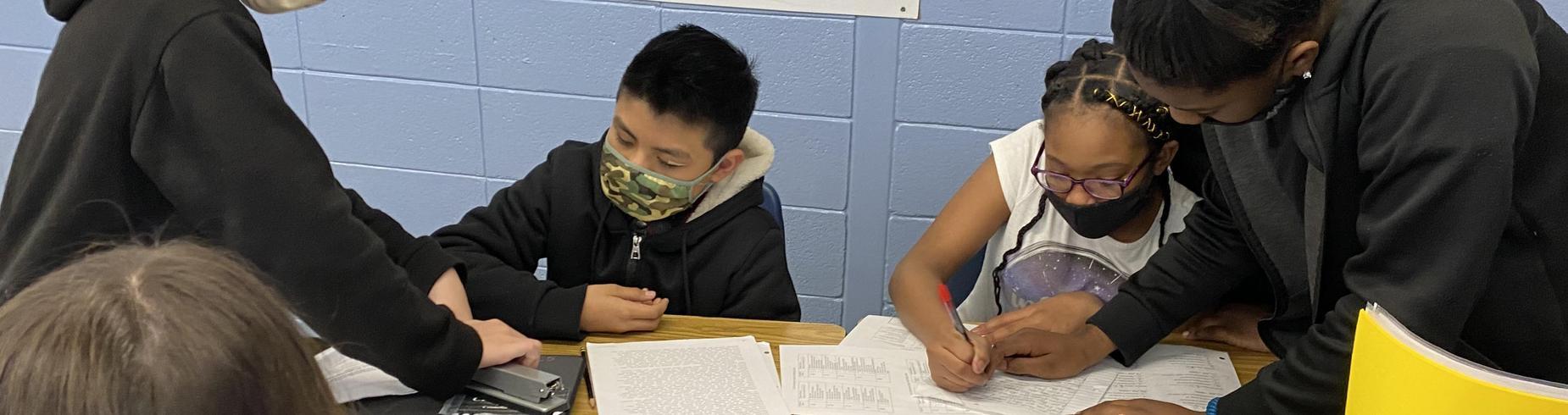 students peer editing