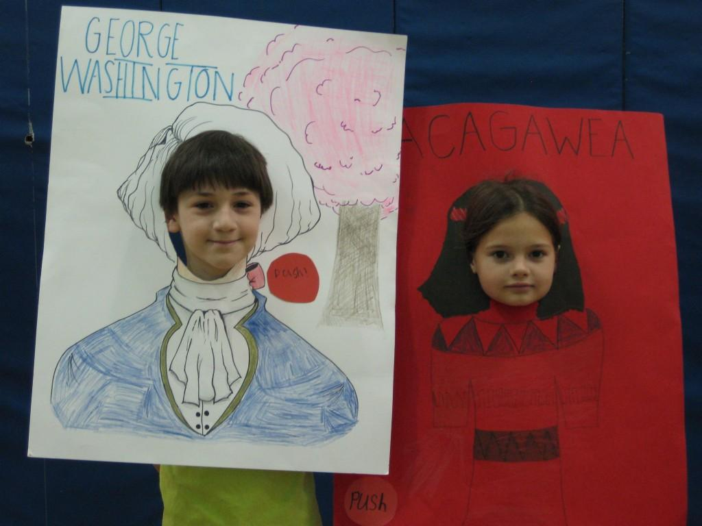 Wax Museum-George Washington and Sacajawea