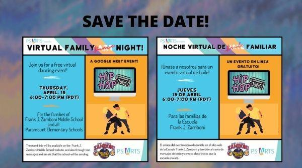 Virtual Family Dance Night 4/15/21 at 6 p.m. Featured Photo