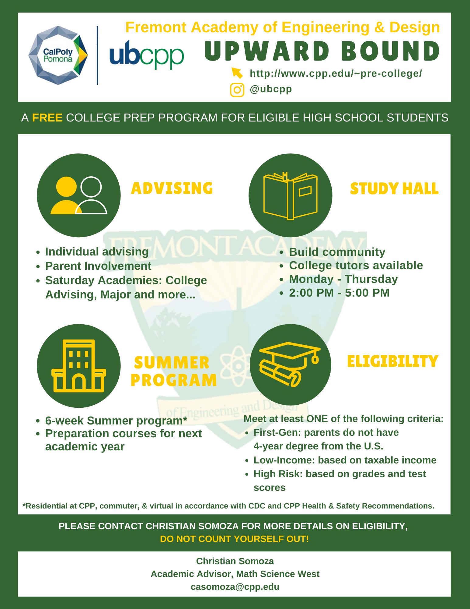 Upward Bound Math/Science Program Recruitment Information