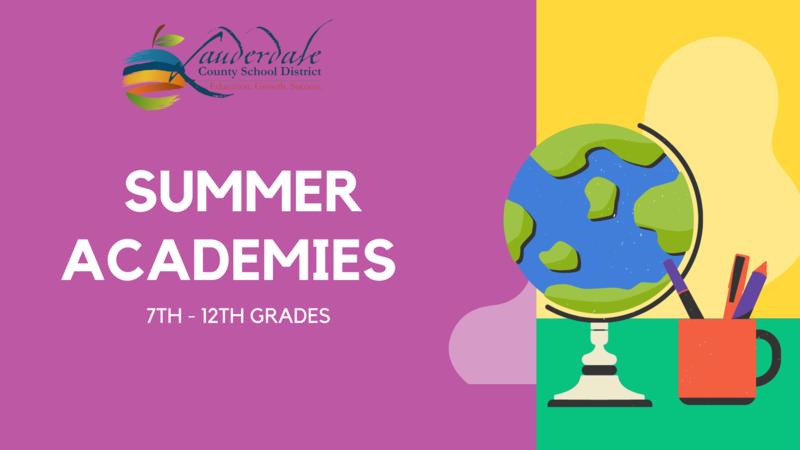 LCSD High School Summer Academies Graphic