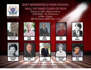 Hall of Fame Dinner Flyer