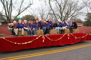 B-L Elementary School Staff Serves as Grand Marshal of Christmas Parade