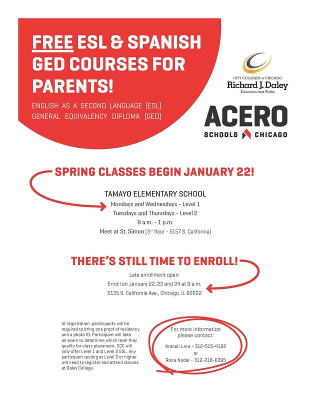 GED and ESL flier