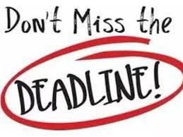 Don't Miss the Deadline