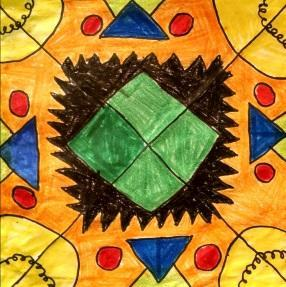 Radial Symmetrical Design Done By Third Grade Students