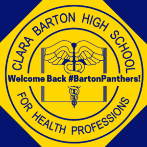 CBHS logo with Welcome Back #BartonPanthers across the center