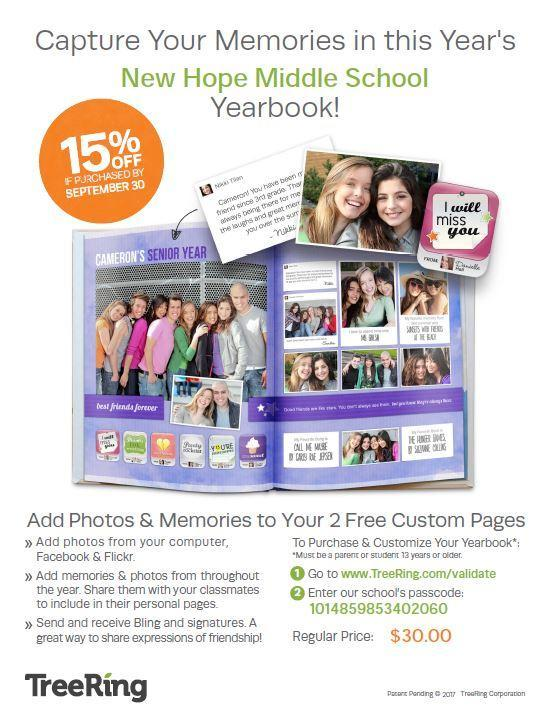 New Hope Middle School 2018-2019 Yearbook Information Featured Photo