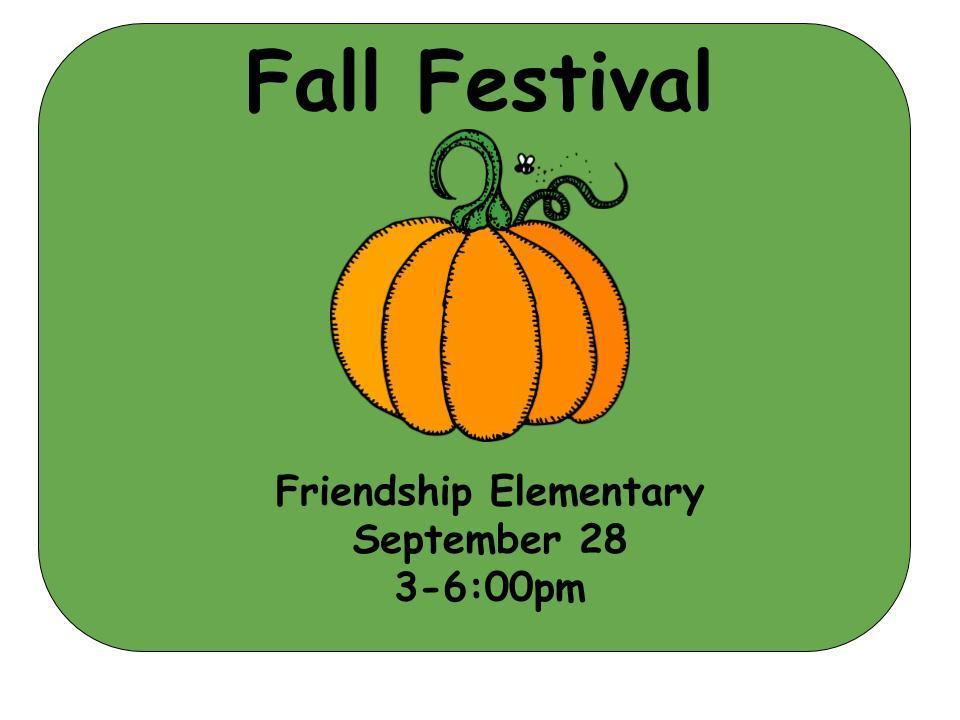 Fall Festival September 28 3-6pm