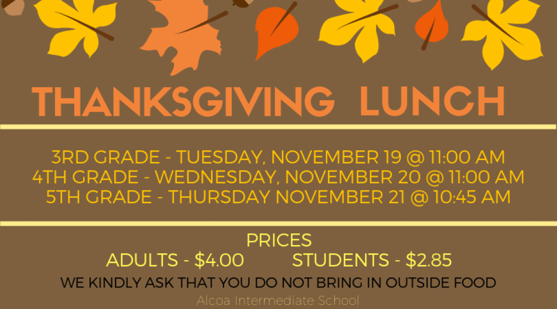 Thanksgiving Lunch Coming Up! Featured Photo