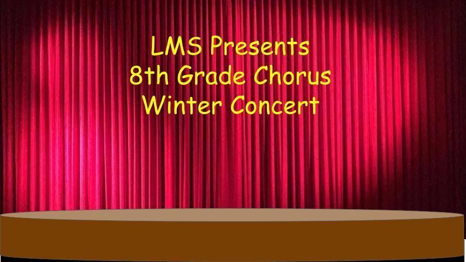 8th grade virtual winter concert