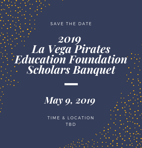 scholars banquet save the date for May 9, 2019