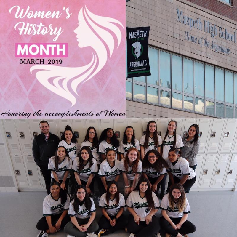 Maspeth High School Celebrates Women's History Month . . . Athletics Department Featured Photo