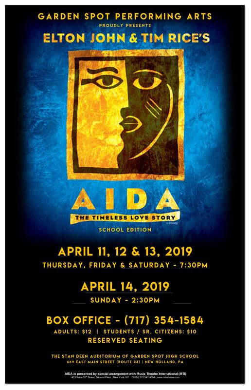GSPA presents Elton John and Tim Rice's AIDA Poster