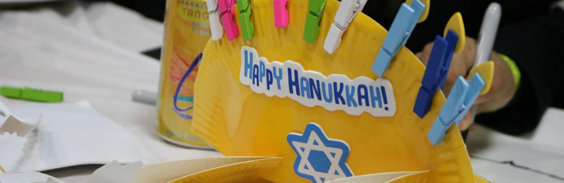 Photo of Hanukkah craft made at Handmade Holidays event at McKinley School.