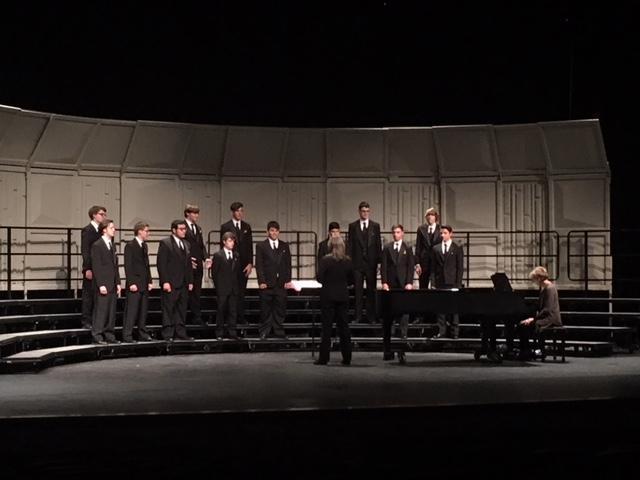 mens choir performing