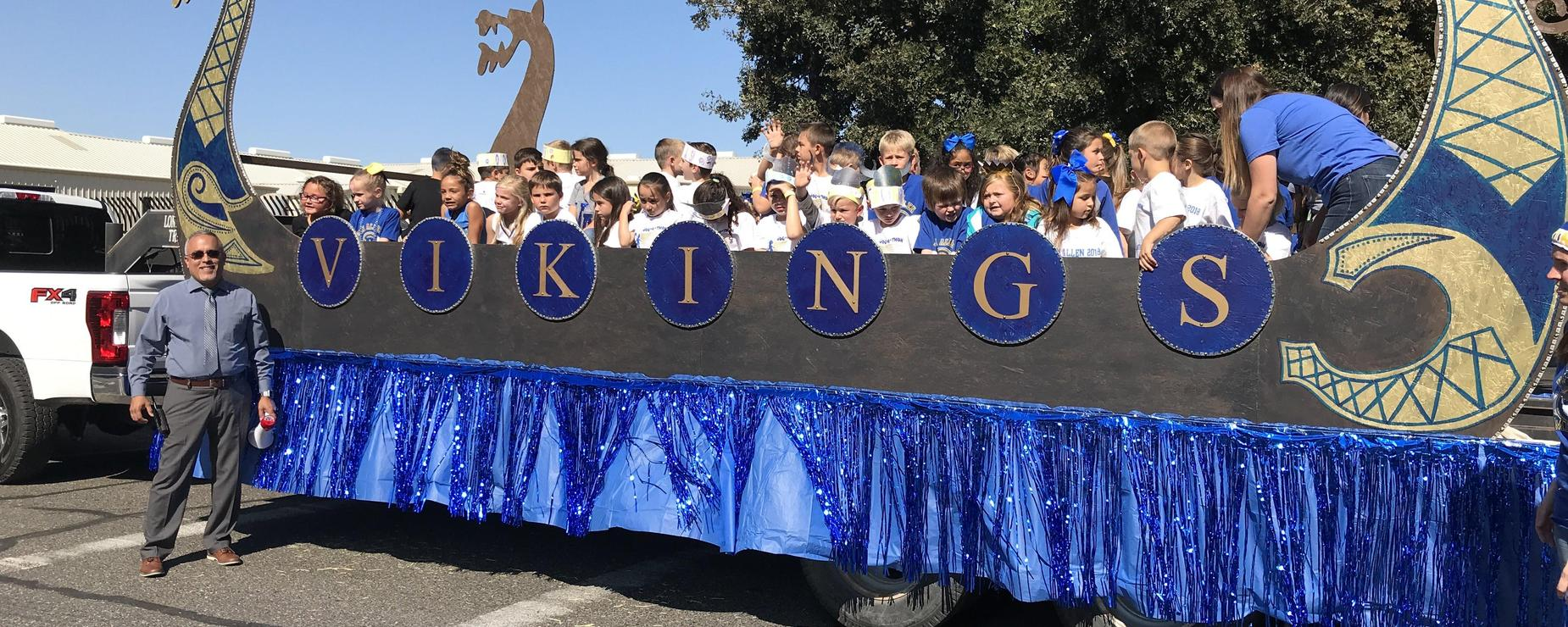 Viking homecoming float