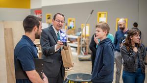Mitchell Zais with CEC Students
