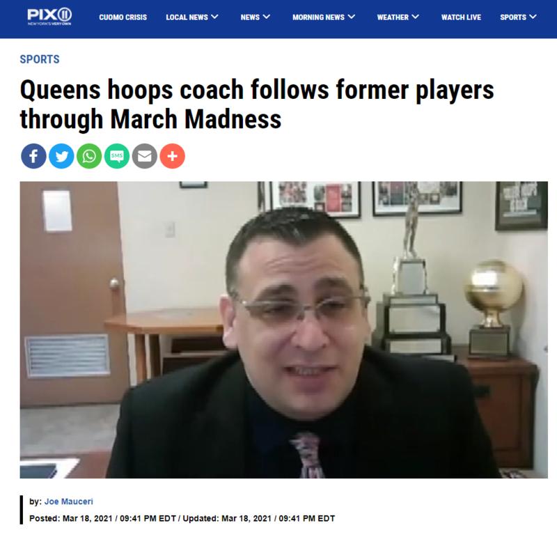 CK's Mr. Arbitello Interviewed by WPIX-11 Regarding Former Royals in NCAA March Madness Featured Photo