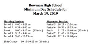 Minimum Day Schedule image