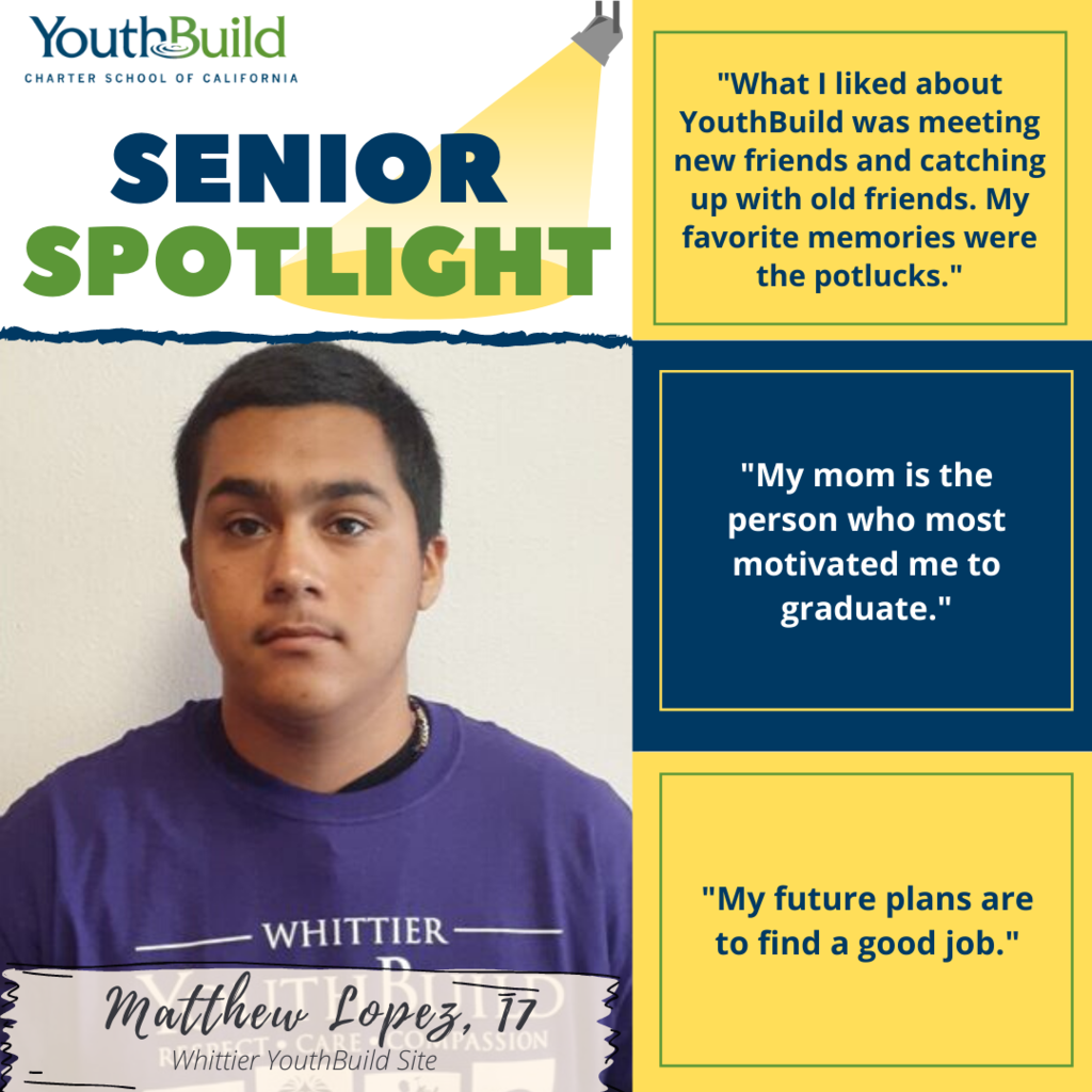 Senior Spotlight for graduate Matthew Lopez