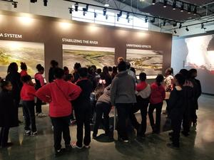 a photo of the Park Ridge 4th & 5th graders at the LSU Center for River Studies
