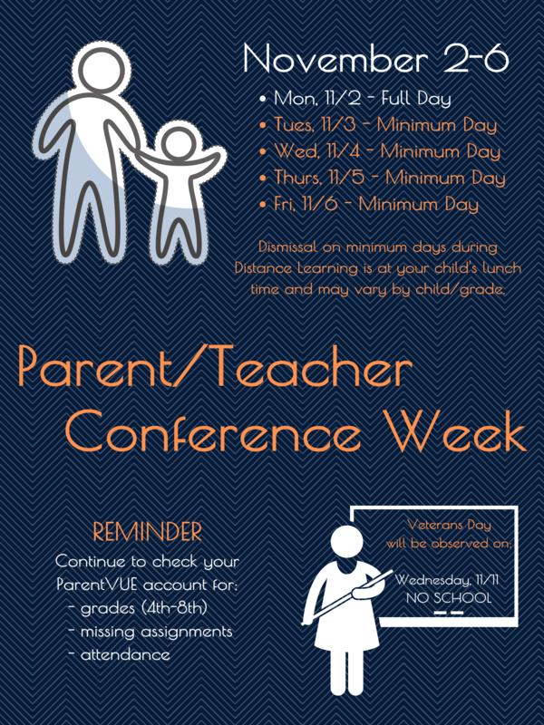 Parent Conference Week - November 2-6 Thumbnail Image