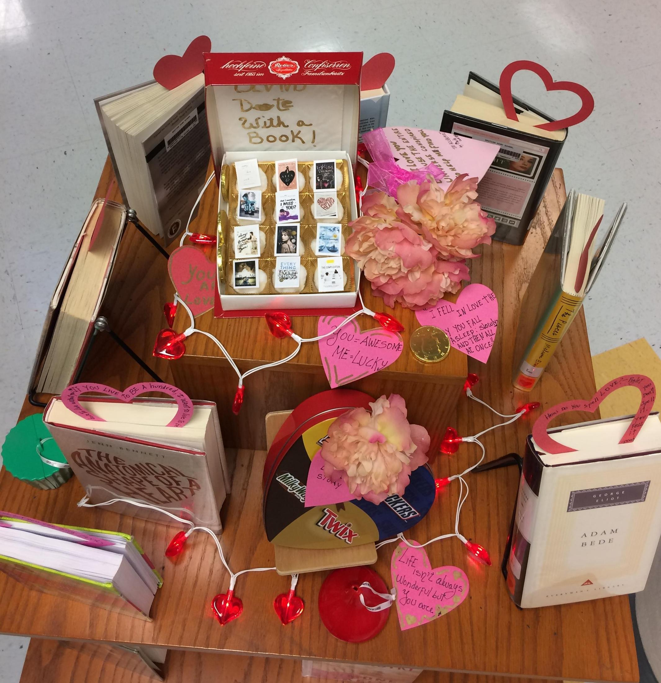 Valentines book display