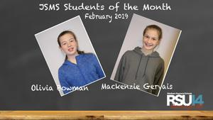 JSMS Students of the Month 2-19