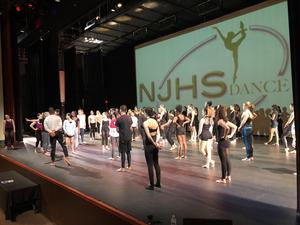 NJHS dancers on stage