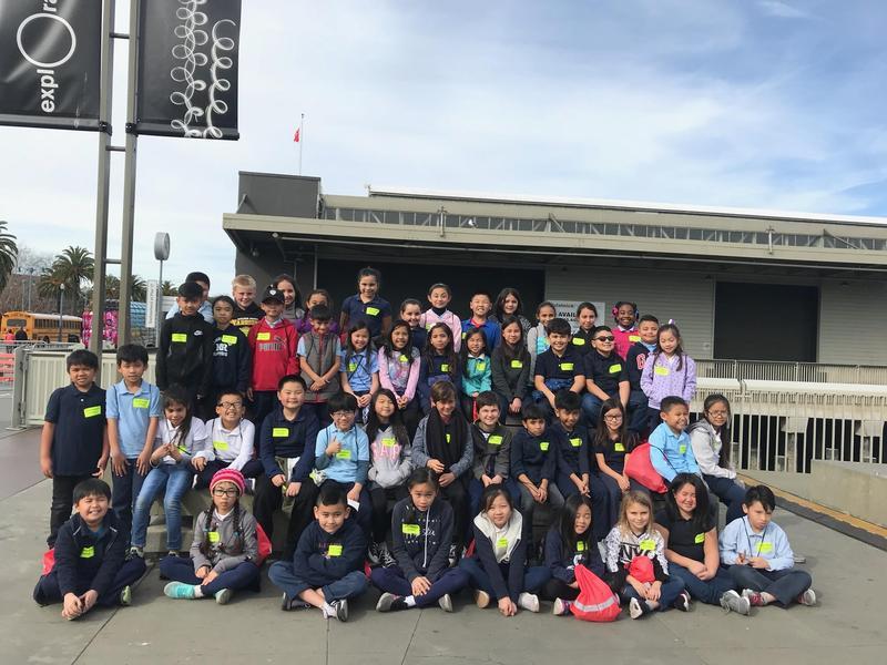 Third graders at the Exploratorium