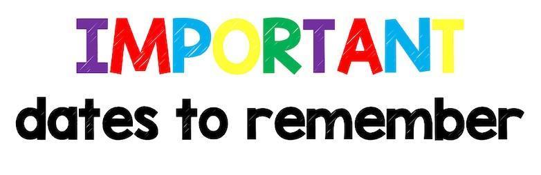 Important Dates to Remember – Grade 3 – Kapolei Elementary School