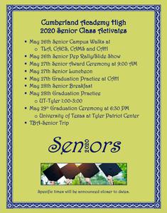 Senior Class Of Activities Featured Photo