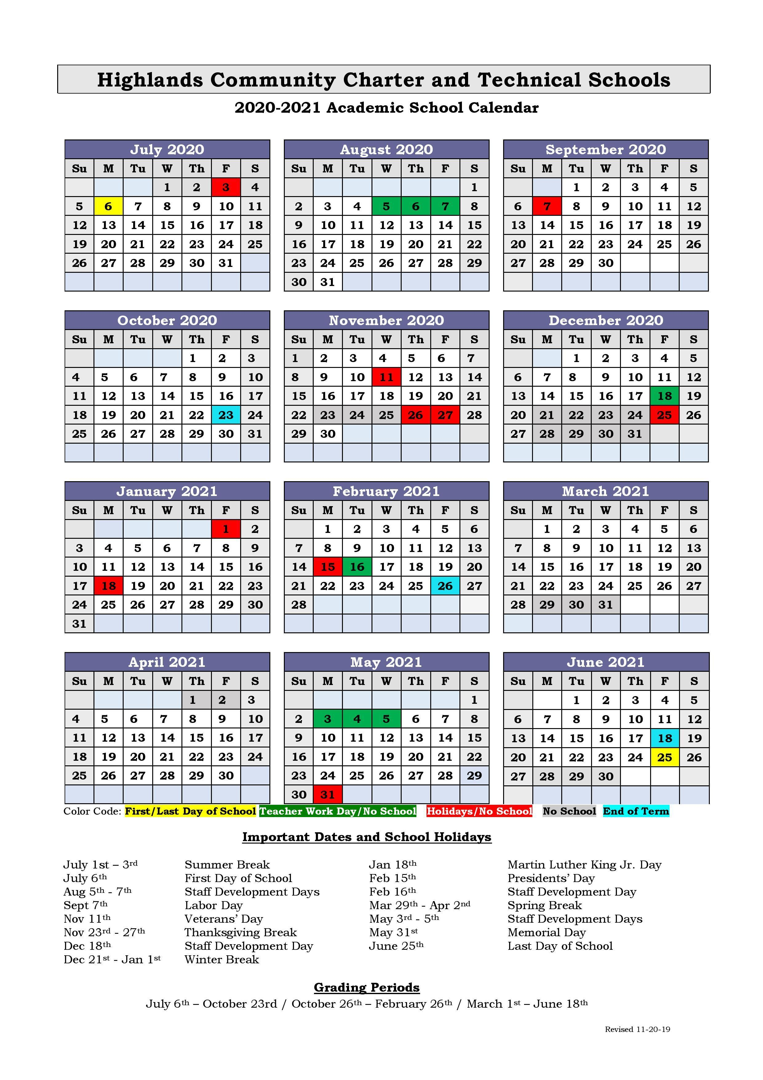 Calendar 20-21