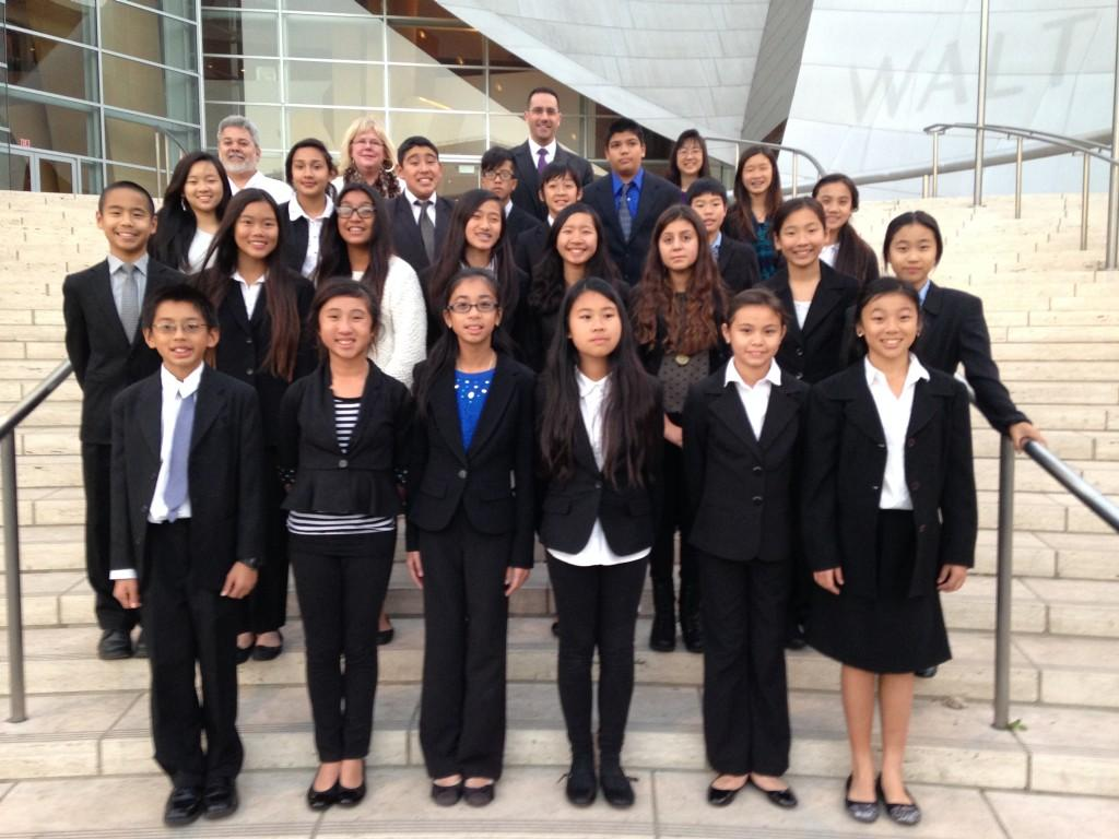 Monterey Highlands mock trial team advanced to the quarterfinals in the Constitutional Rights Foundationu2019s competition: Front row: Jayden Young, Annabella Wu, Maple Duong, Bonnie Wu, Soraya Shafer, Jacqueline Kamei Second row: Timothy Chuman, Ashley Lui, Kiana Sotelo, Christine Huynh, Tiffany Lai, Vivian Padilla, Kaylie Chuman, Casey Lee Third row: Tiffany Neth, Sarena Scott, Ian Ordonez, Richard Wu, Garrett Chung, Manuel Holguin, Andrew Hom, Sabrina Sy, Kaleigh Lien Back row: Rudy Fuentes, Suzanne Fisher, Aaron Kollitz, Gloria Ing
