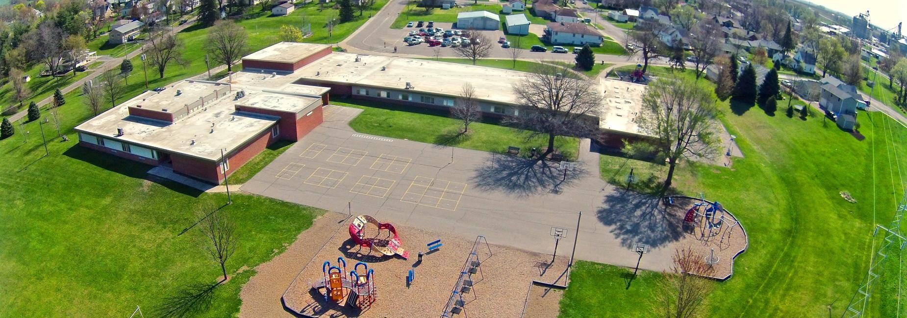 Arial Shot of Monroe elementary school