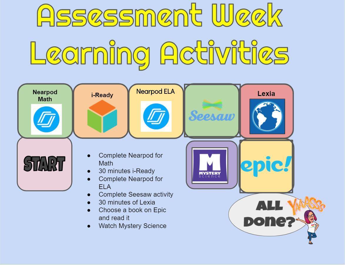 Assessment week gameboard